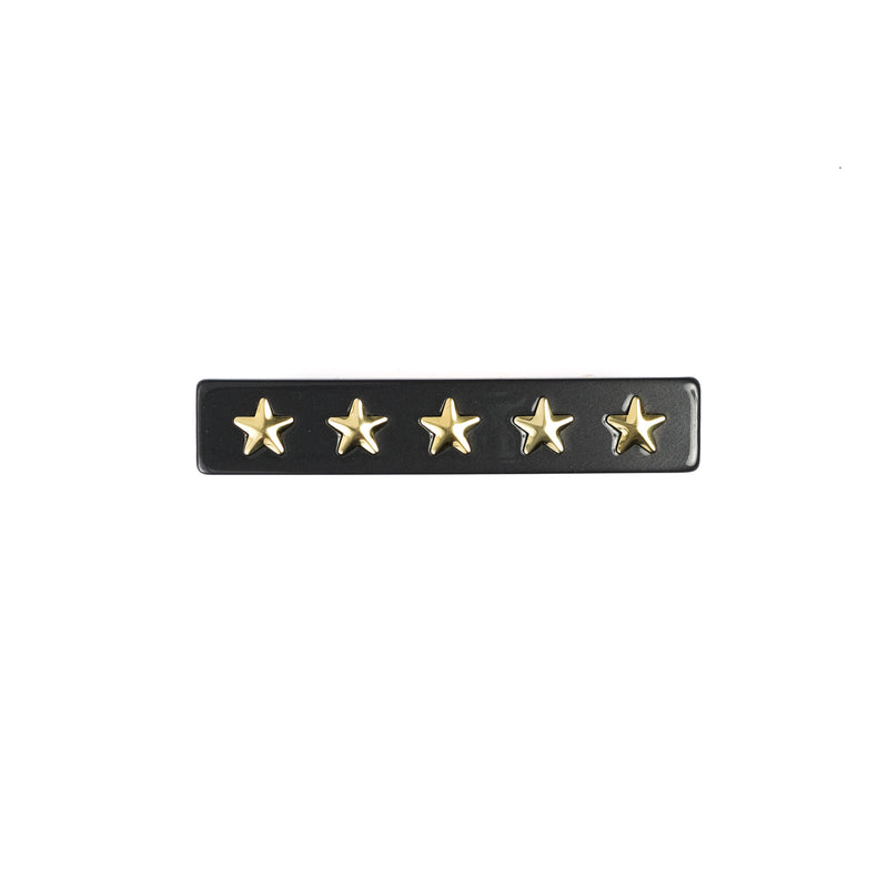STAR STUD HAIR CLIP SMALL CHARCOAL