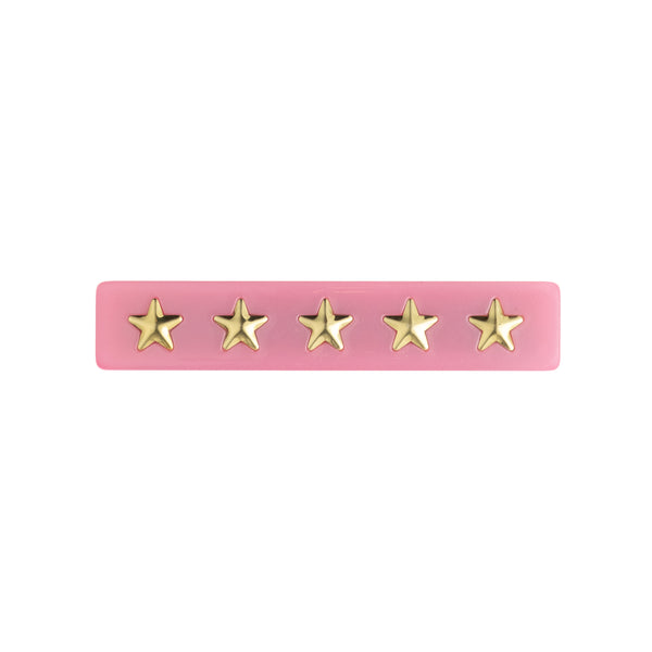 STAR STUD HAIR CLIP SMALL PALE PINK