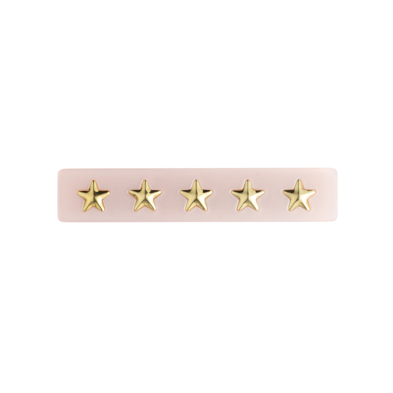 STAR STUD HAIR CLIP SMALL PALE ROSE