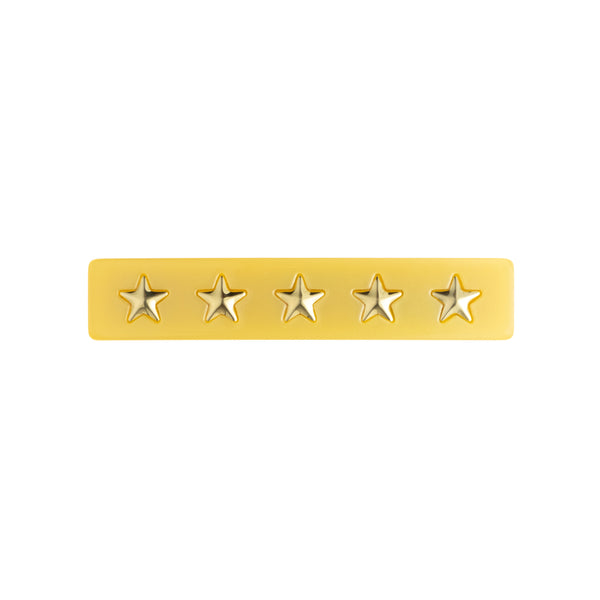 STAR STUD HAIR CLIP SMALL YELLOW