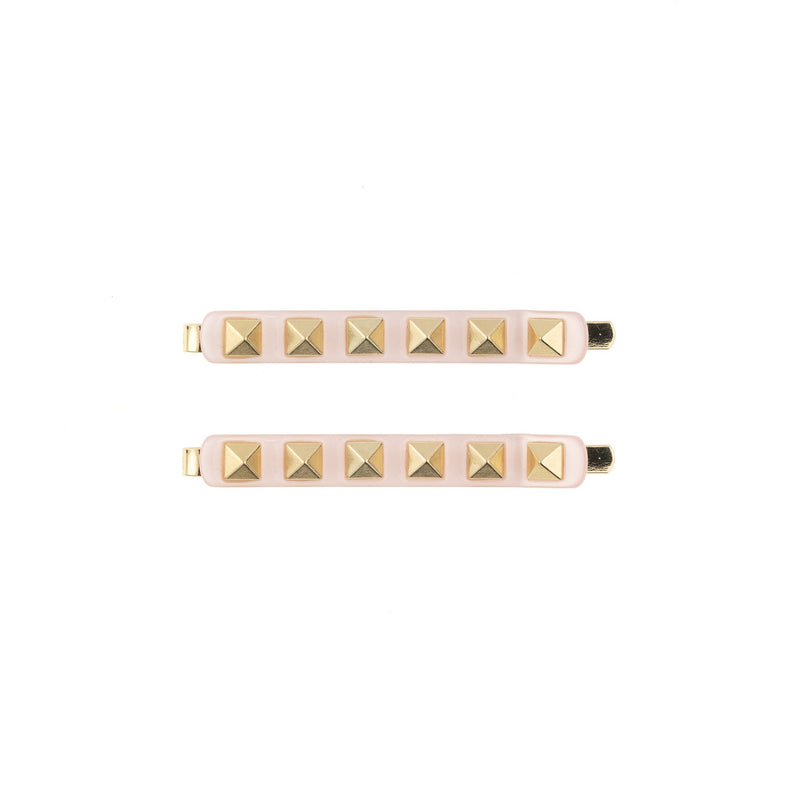 STUD BOBBY PINS 2 PK PALE ROSE