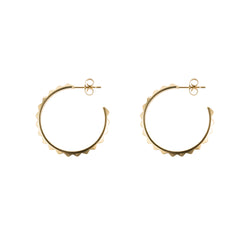 STUD HOOP MEDIUM GOLD