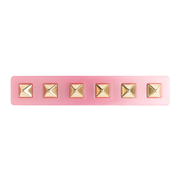 STUD HAIR CLIP LARGE PALE PINK