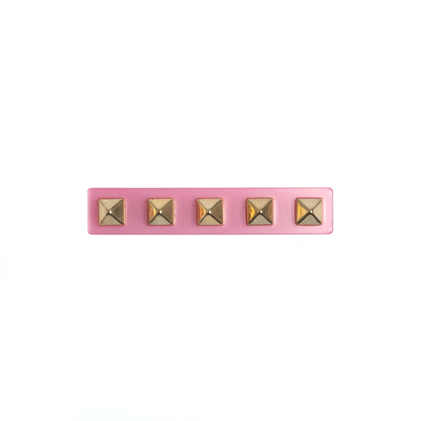 STUD HAIR CLIP SMALL PALE PINK