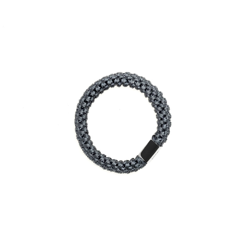 FAT HAIR TIE INFINITY BLUE W/SILVER