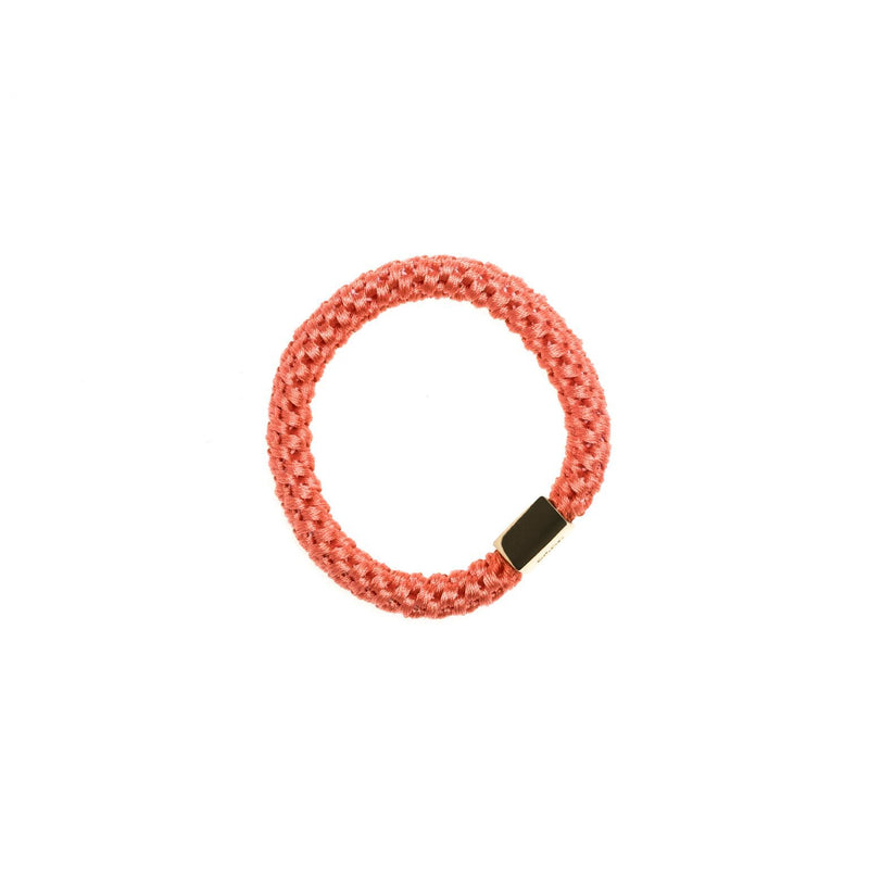 FAT HAIR TIE DUSTY CORAL W/GOLD
