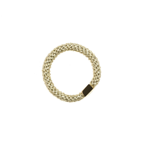 FAT HAIR TIE GOLD W/GOLD