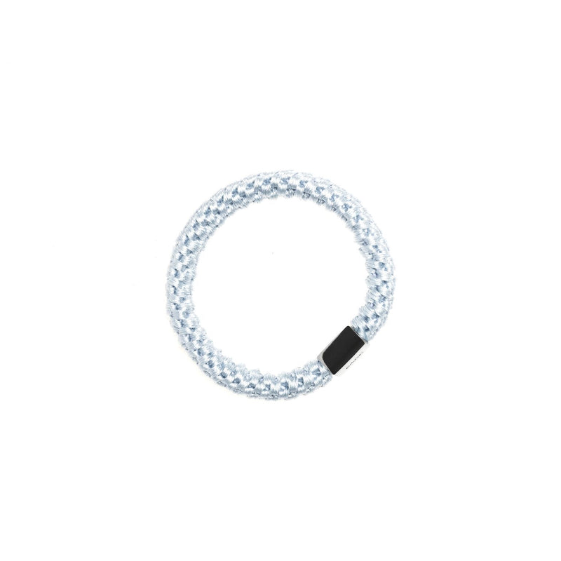 FAT HAIR TIE COOL BLUE W/SILVER