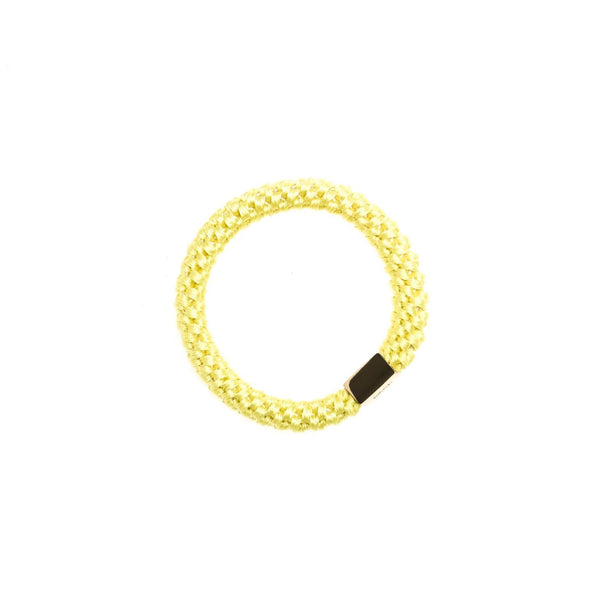 FAT HAIR TIE SUMMER YELLOW W/GOLD