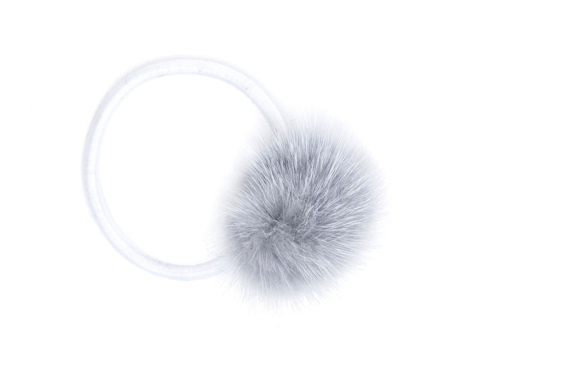 MINK HAIR POM LIGHT BLUE