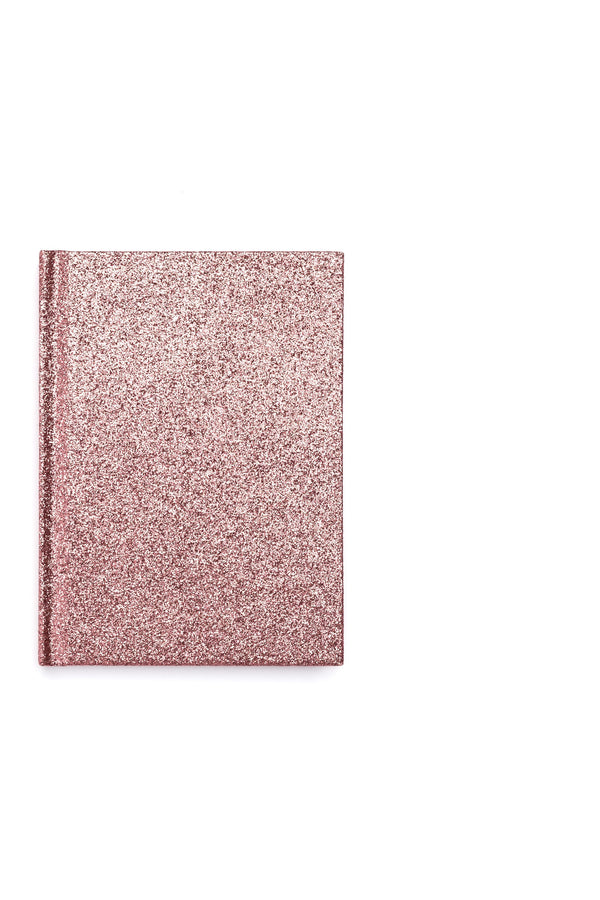 GLITTER NOTEBOOK A6 CANDY PINK