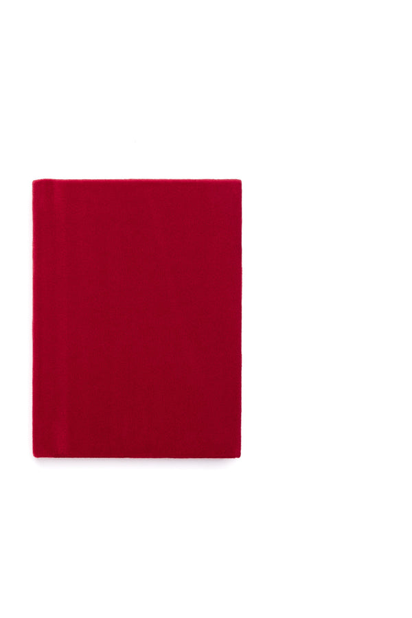 VELVET NOTEBOOK RED S