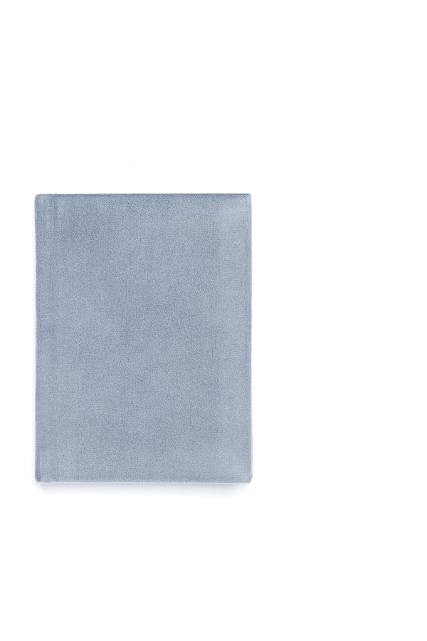 VELVET NOTEBOOK DUSTY BLUE S