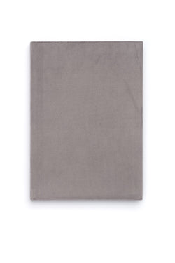 VELVET NOTEBOOK ELEPHANT GREY M