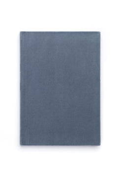 VELVET NOTEBOOK DUSTY BLUE M