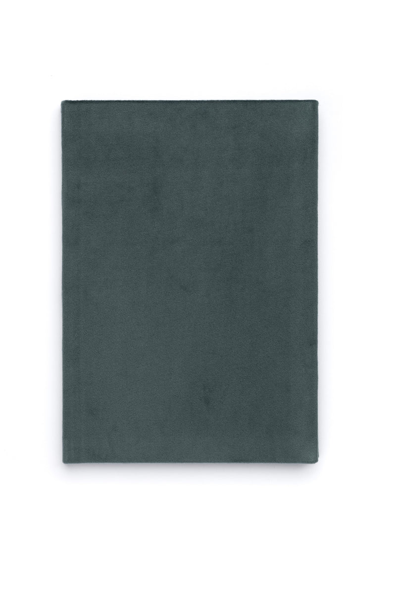 VELVET NOTEBOOK TEAL M