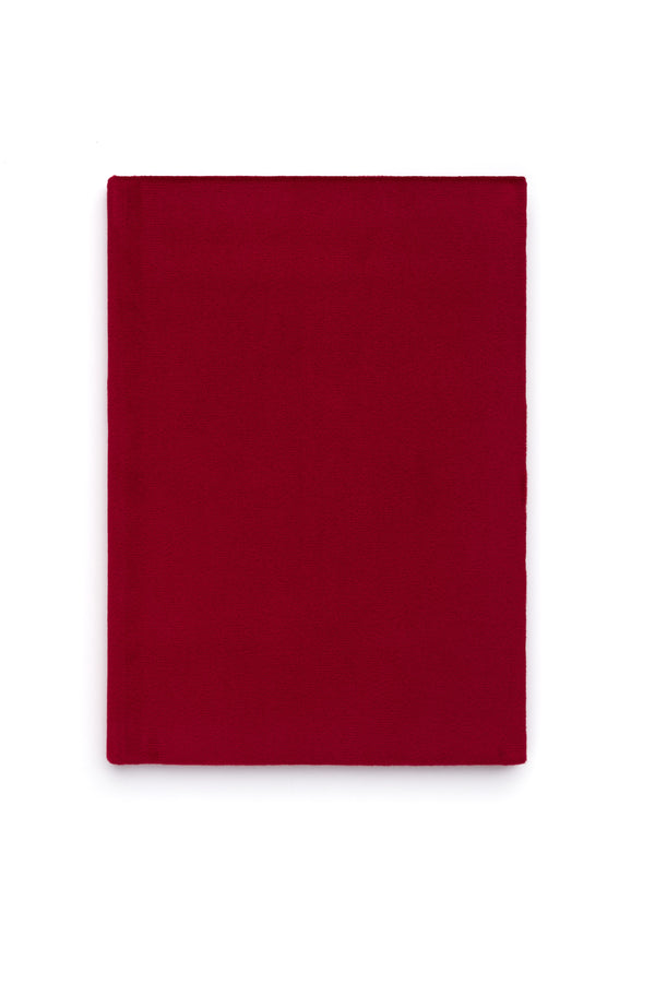 VELVET NOTEBOOK RED M