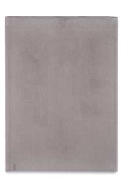 VELVET NOTEBOOK ELEPHANT GREY L