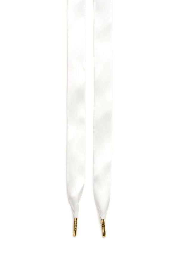 SILK SHOE LACES WHITE