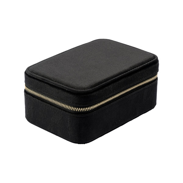 VELVET JEWELLERY BOX BLACK