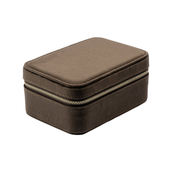 VELVET JEWELLERY BOX CHOCOLATE BROWN