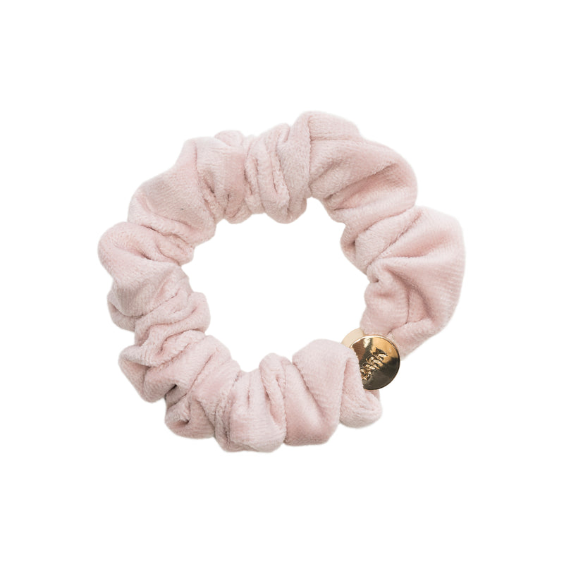 VELVET MINI SCRUNCHIE VINTAGE ROSE