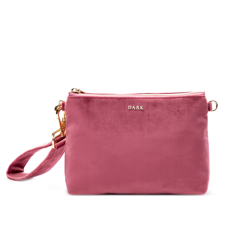 VELVET STANDING POUCH DUSTY ROSE