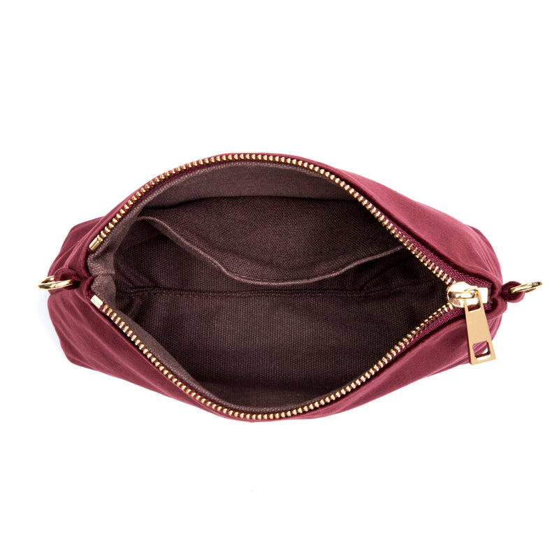 VELVET STANDING POUCH MARROON