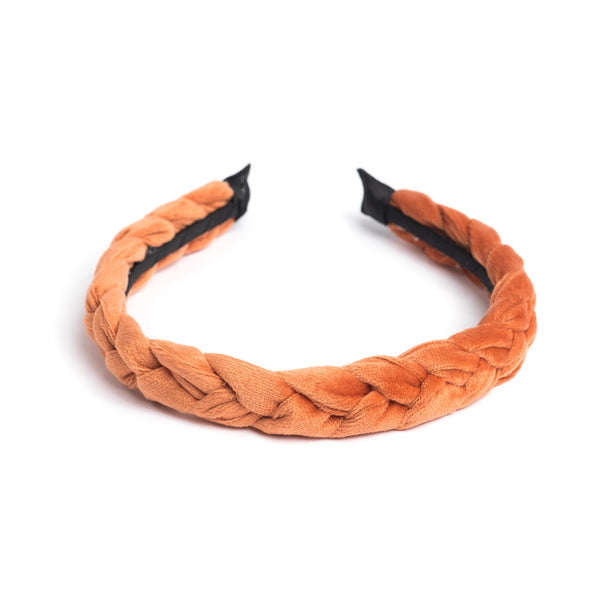 VELVET HAIR BAND BRAIDED SUNBURN