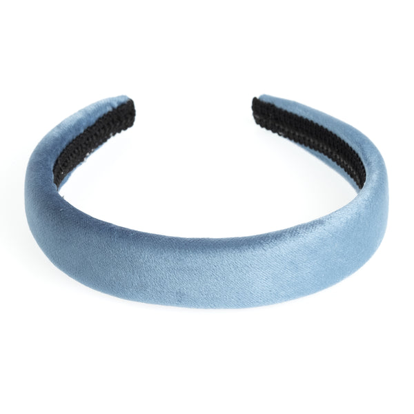 VELVET HAIR BAND BROAD 501 BLUE