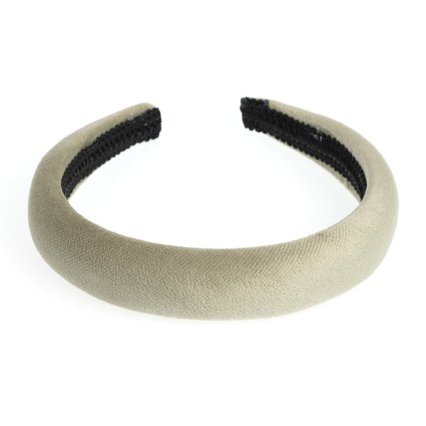 VELVET HAIR BAND BROAD FADED ARMY