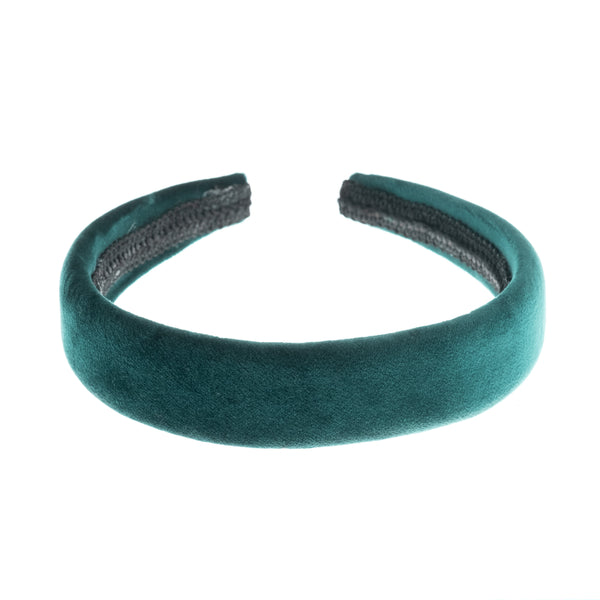 VELVET HAIR BAND BROAD MALLARD GREEN