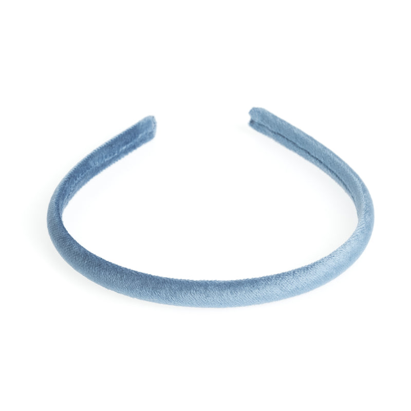VELVET HAIR BAND THIN 501 BLUE
