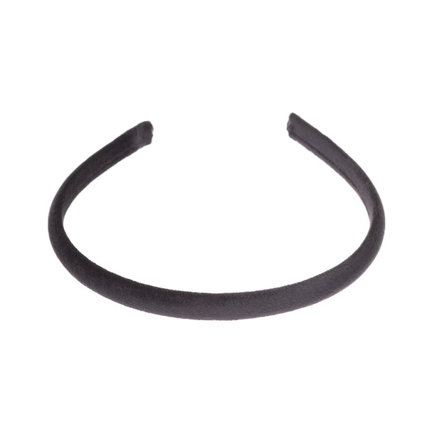 VELVET HAIR BAND THIN BLACK