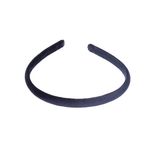 VELVET HAIR BAND THIN NAVY BLUE