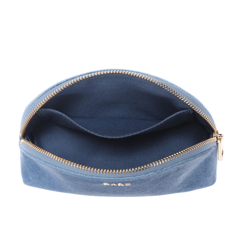 VELVET MAKE-UP POUCH 501 BLUE