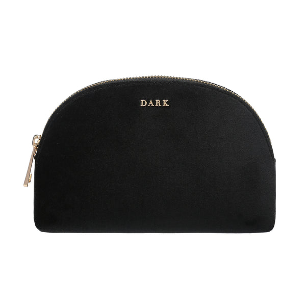 VELVET MAKE-UP POUCH BLACK