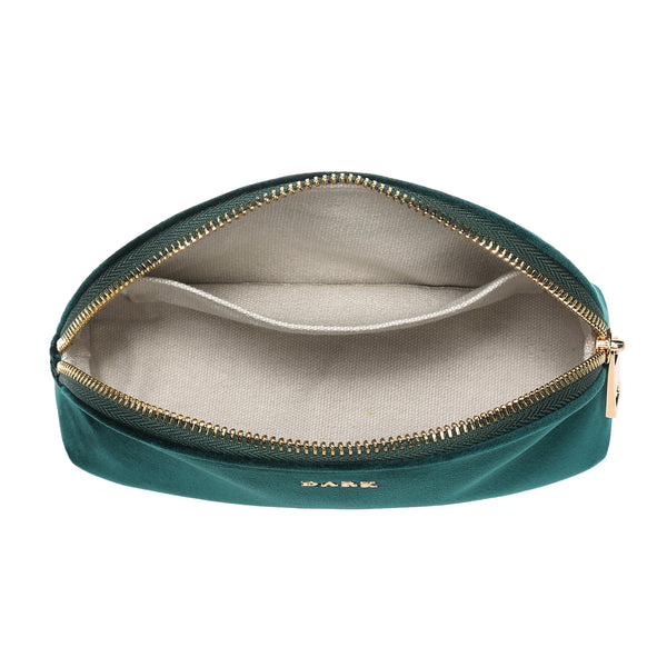 VELVET MAKE-UP POUCH MALLARD GREEN