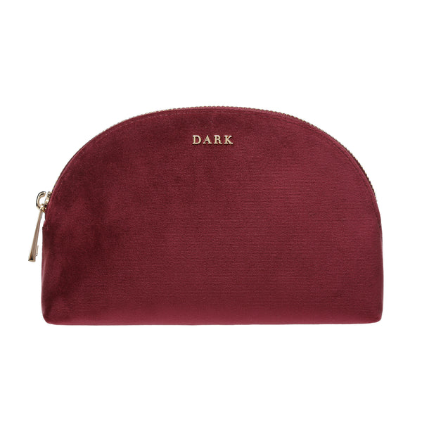 VELVET MAKE-UP POUCH WINE