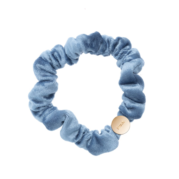 VELVET MINI SCRUNCHIE 501 BLUE