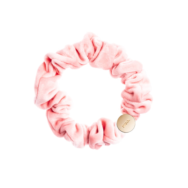 VELVET MINI SCRUNCHIE BALLERINA ROSE