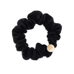 VELVET MINI SCRUNCHIE BLACK
