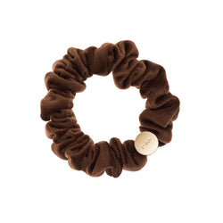 VELVET MINI SCRUNCHIE COGNAC