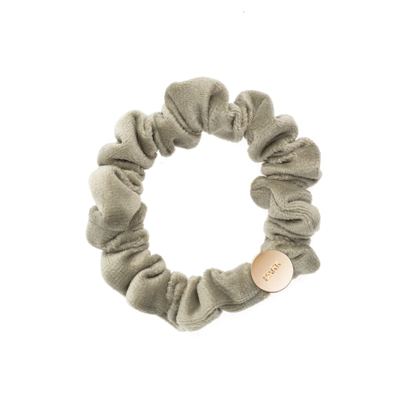 VELVET MINI SCRUNCHIE FADED ARMY
