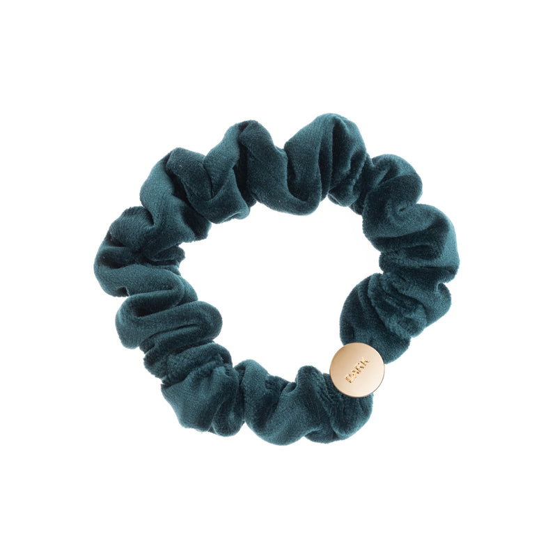 VELVET MINI SCRUNCHIE MALLARD GREEN