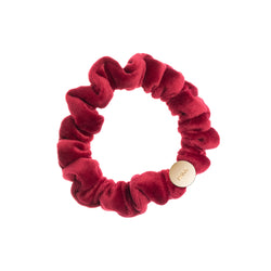 VELVET MINI SCRUNCHIE OX RED