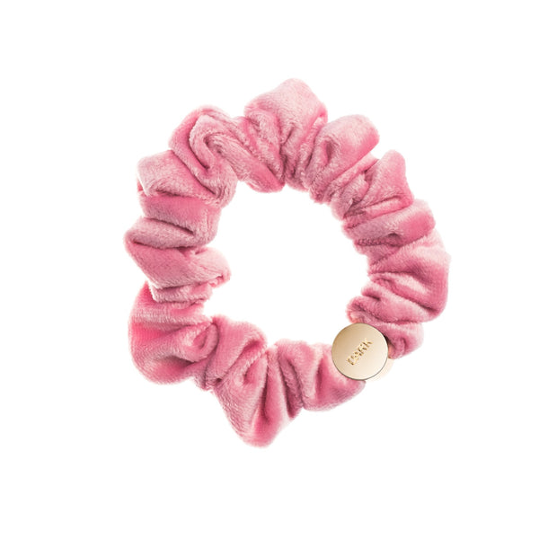 VELVET MINI SCRUNCHIE PALE PINK