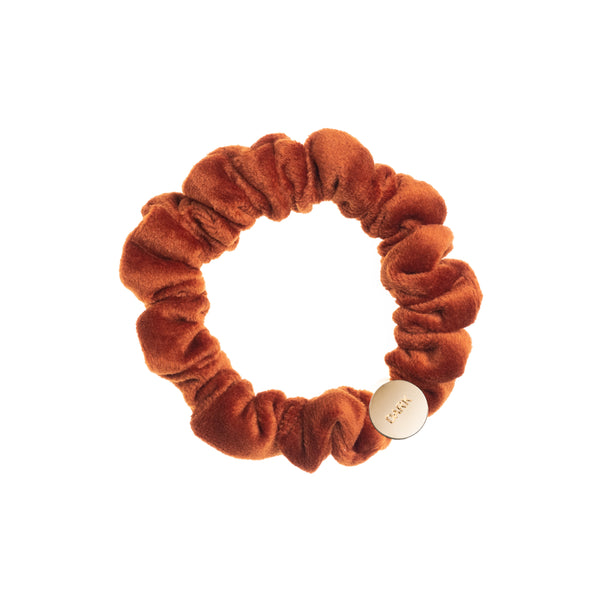 VELVET MINI SCRUNCHIE RUST
