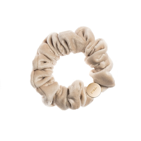 VELVET MINI SCRUNCHIE SAND