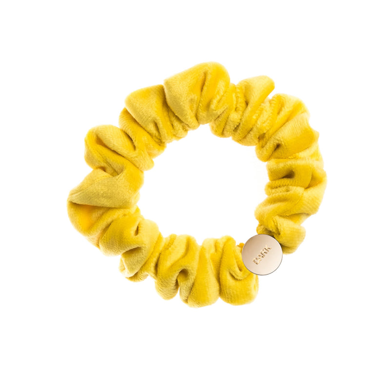 VELVET MINI SCRUNCHIE SUN YELLOW